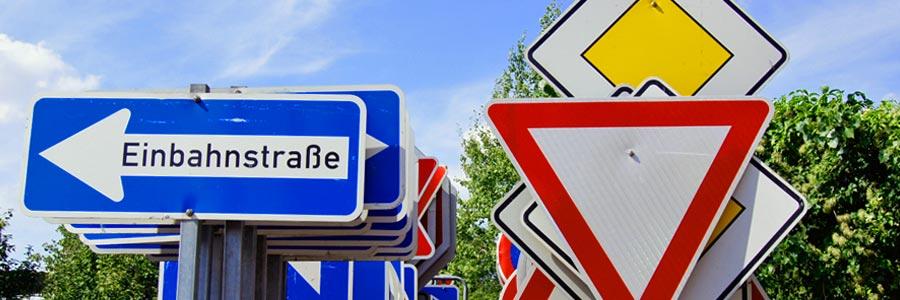 Slide_Schild_Einbahnstraße